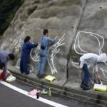 壁画プロジェクト、線画完成。